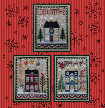 Christmas House Trio - Waxing Moon Designs