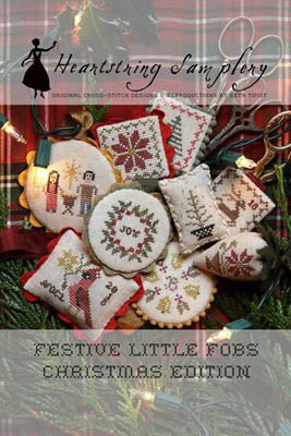 Festive Little Fobs 10, Christmas Edition - Heartstring Samplery