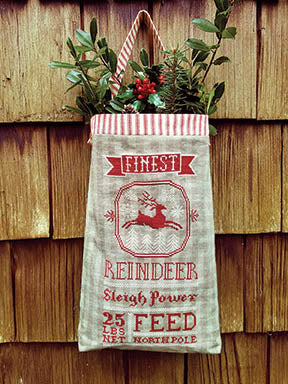 Reindeer Feed Sack - Carriage House Samplings