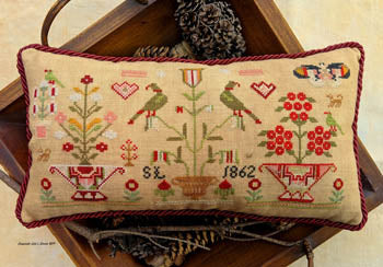 S.L. 1862 Small Sampler - Lila's Studio