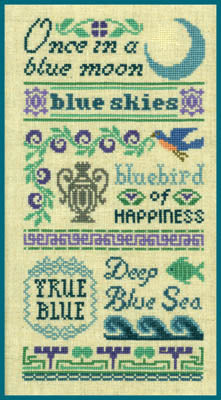 Antique Blue Sampler - Elizabeth's Designs