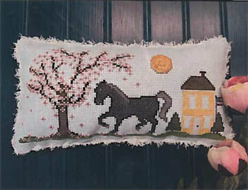 Big Black Horse and the Cherry Tree - Vintage Needlearts