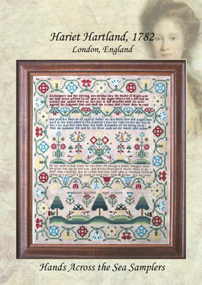 Harriet Hartland 1782 - Hands Across the Sea Samplers