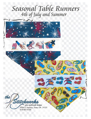 Seasonal Table Runner Designs, 4th of July & Summer - Stitchworks