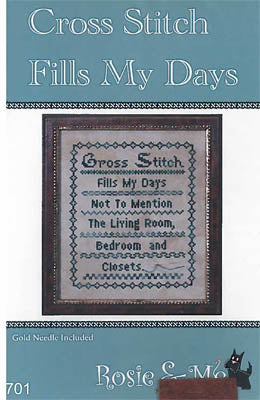 Cross Stitch Fills My Days - Rosie & Me Creations