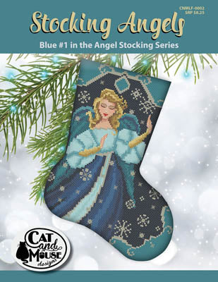 Stocking Angels, Blue #1 - Cat and Mouse Designs