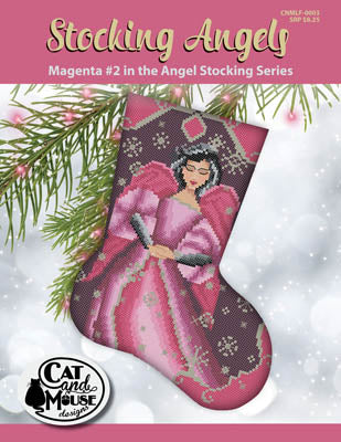 Stocking Angels, Magenta #2 - Cat and Mouse Designs