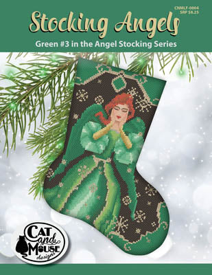 Stocking Angels, Green #3 - Cat and Mouse Designs