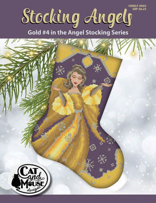 Stocking Angels, Gold #4 - Cat and Mouse Designs