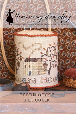 Acorn House Pin Drum - Heartstring Samplery