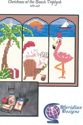 Christmas At The Beach Triptych - Meridian Designs For Cross Stitch
