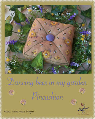 Dancing Bees In My Garden Pincushion - MTV Designs