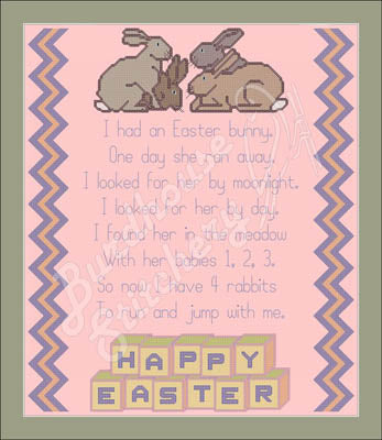 I Had An Easter Bunny - Burdhouse Stitchery