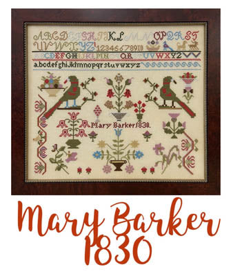 Miss Mary Barker 1830 - Just Stitching Along