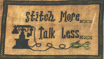Stitch More Talk Less - Mountain Aire Designs