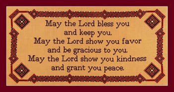 May The Lord Bless You - Burdhouse Stitchery