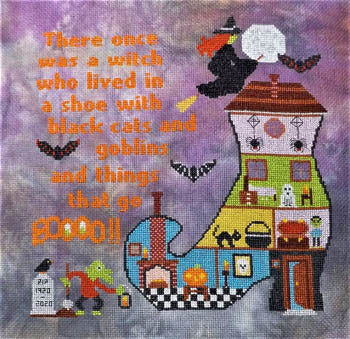 Witchy Boo - Sister Lou Stitches