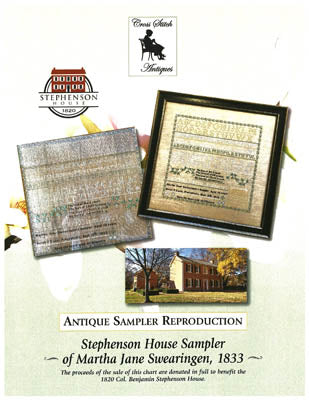 Stephenson House Sampler Of Martha Jane Swearingen, 1833 - Cross Stitch Antiques