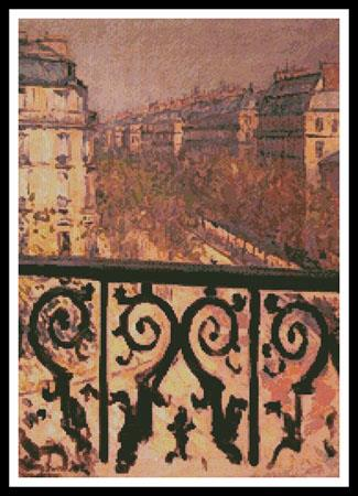 A Balcony In Paris - Artecy Cross Stitch