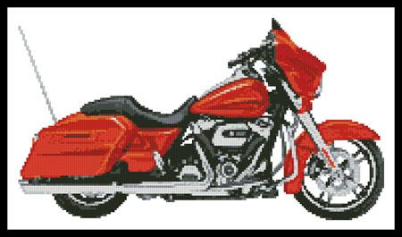 2006 Harley Davidson Street Glide (Orange) - Artecy Cross Stitch