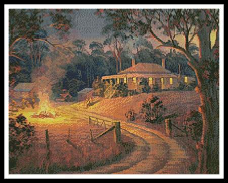 Bush Bonfire (Crop) - Artecy Cross Stitch