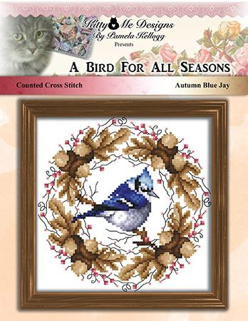 A Bird For All Seasons Autumn Blue Jay - Kitty & Me Designs