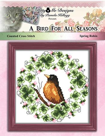 A Bird For All Seasons Spring Robin - Kitty & Me Designs