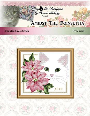 Amidst The Poinsettias Ornament - Kitty & Me Designs