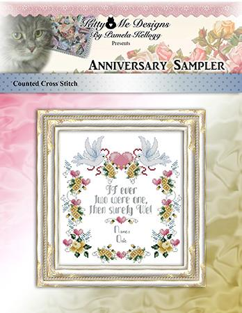 Anniversary Sampler - Kitty & Me Designs