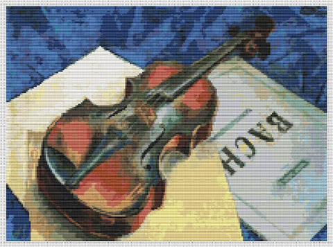 A Still Life With Violin - Art of Stitch, The