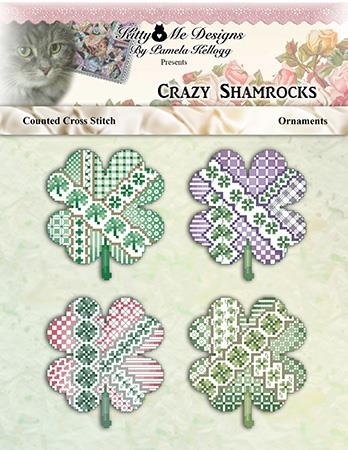 Crazy Shamrock Ornaments - Kitty & Me Designs
