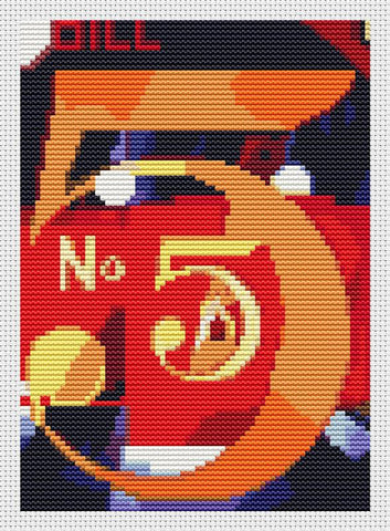 A Figure 5 In Gold (Mini Chart) - Art of Stitch, The
