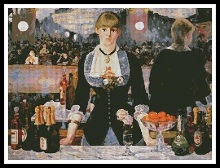 A Bar At Folies-Bergere - Artecy Cross Stitch