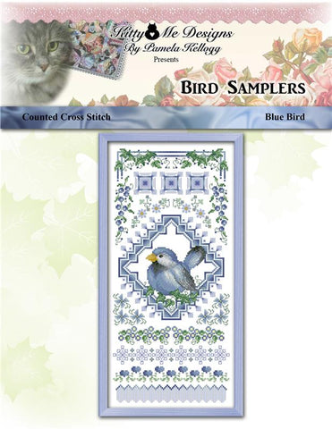 Bird Sampler Blue Bird - Kitty & Me Designs