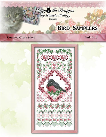 Bird Sampler Pink Bird - Kitty & Me Designs