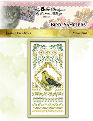Bird Sampler Yellow Bird - Kitty & Me Designs