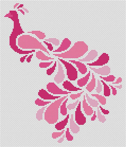 Abstract Peacock in Pink - Art of Stitch, The