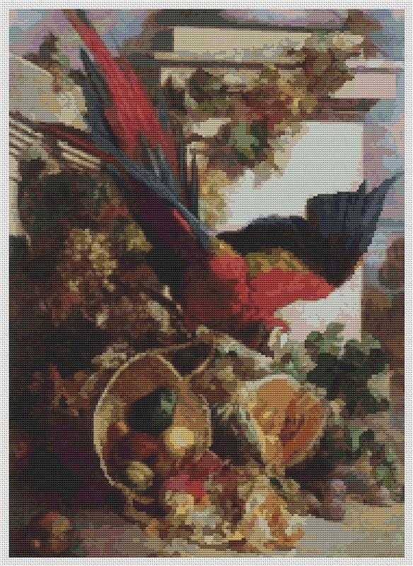 Still Life With Parrot - Art of Stitch, The