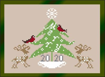 Merry Deer - Stitch N Needs