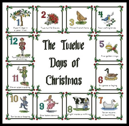 12 Days Of Christmas Sampler - Artecy Cross Stitch