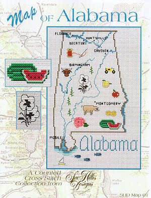 Alabama Map - Sue Hillis Designs