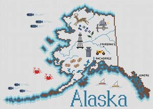 Alaska Map - Sue Hillis Designs