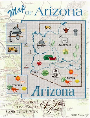 Arizona Map - Sue Hillis Designs