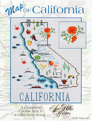 California Map - Sue Hillis Designs