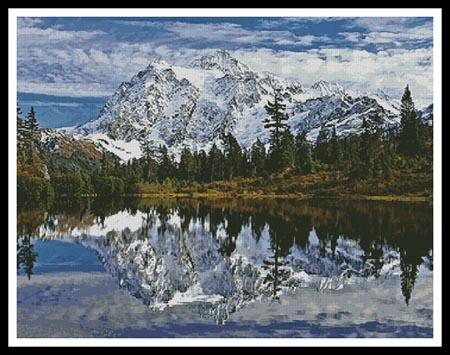 Mount Shuksan - Artecy Cross Stitch
