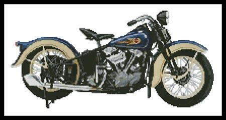 1936 Harley Davidson Knucklehead - Artecy Cross Stitch