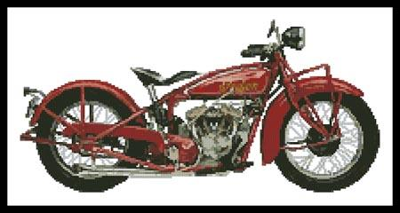1928 Indian 101 Scout - Artecy Cross Stitch