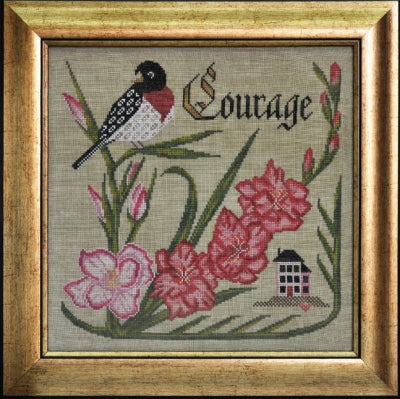 Have Courage, Songbird's Garden Series - Cottage Garden Samplings