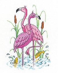 Flamingos, Karen Carter Collection - Heritage Crafts