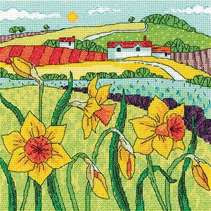 Daffodil Landscape, Karen Carter Collection - Heritage Crafts